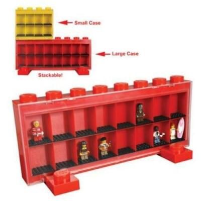 Lego Large Minifigure Display Case - Red
