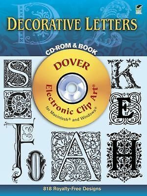 Decorative Letters CD-ROM and Book (Dover Electronic Clip Art) by