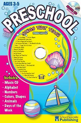 Preschool Sing Along Activity Book with CD: Songs That Teach Preschool
