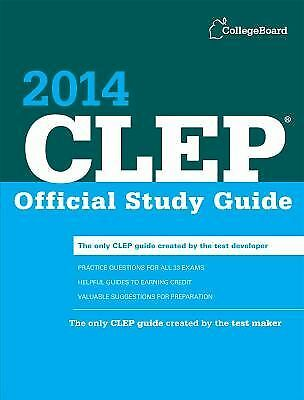 CLEP Official Study Guide 2014 by College Board Staff (2013, Paperback)