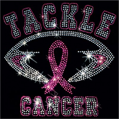 Breast Cancer Awareness Rhinestone T-Shirt - Sizes XS-4XL - Tackle Cancer