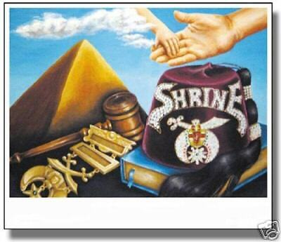The Shrine Reaching Out Shrine Masonic Art Print