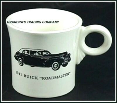 Vintage HLC BUICK Fiesta Mug 1941 Roadmaster Tom & Jerry Car Advertising HTF