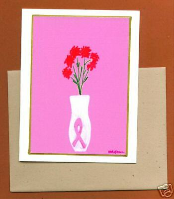 Set of Six Breast Cancer Awareness Note Cards