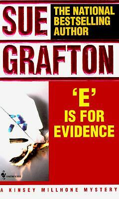 E Is for Evidence (Kinsey Millhone Mysteries), Sue Grafton, Good Condition, Book