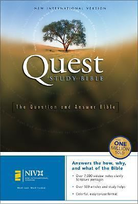 NIV Quest Study Bible, Revised, Ten Elshof, Phyllis, Good Book