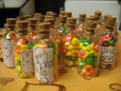 Lot 10 5ml Bitty Bottles. Mini Pendant Vials Glass. Glass Cork Bottle Pendants.