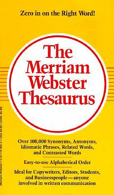 The Merriam Webster Thesaurus, Merriam-Webster, Good Condition, Book