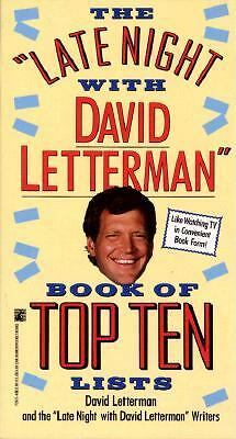 Late Night with David Letterman Book of Top Ten Lists, Letterman, David, Good Co