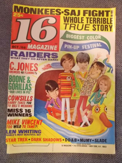 THE NAZZ, STAR TREK, COUNTRY JOE & THE FISH, BEATLES OCT.1968 16 MAG