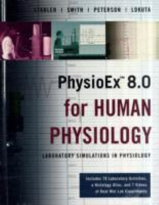 Physioex 8.0 Human Physiology, Timothy Stabler, Peter Zao, Good Book