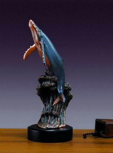 Humpback Whale 7 x 18 Stunning  Beautiful Bronze Statue / Sculpture Brand New