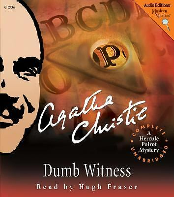 Dumb Witness: A Hercule Poirot Mystery, Christie, Agatha, Good Book