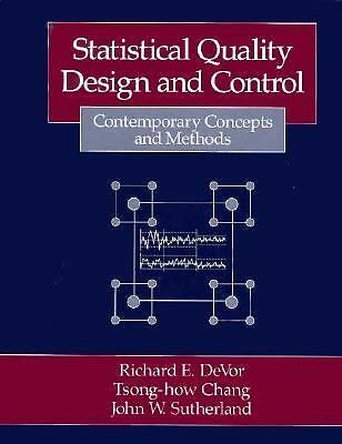 Statistical Quality Design and Control: Contemporary Concepts and Methods