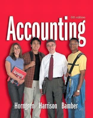 Accounting 1-26 and Integrator CD (6th Edition) (Charles T Horngren Series in Ac