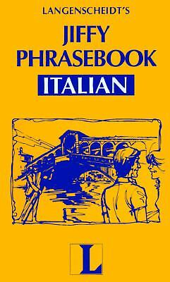 Jiffy Phrasebook Italian, Langenscheidt, Good Book