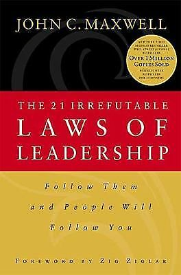 The 21 Irrefutable Laws of Leadership, John C. Maxwell, Good Condition, Book