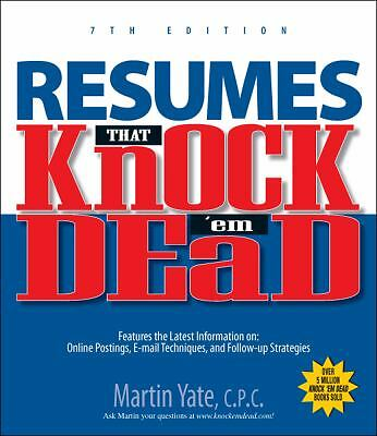 Resumes That Knock 'em Dead (Knock 'em Dead Resumes), Yate, Martin, Good Conditi