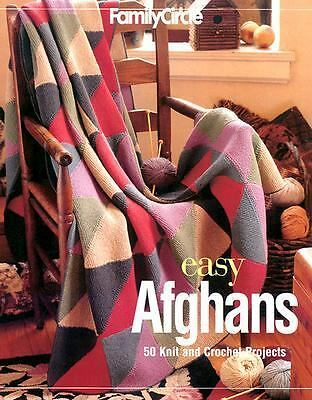 Family Circle Easy Afghans: 50 Knit and Crochet Projects, , Good Condition, Book