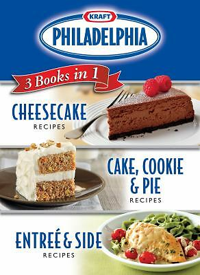 Kraft Philadelphia Cream Cheese 3 Books in 1: Cheesecake Recipes/ Cake, Cookie &