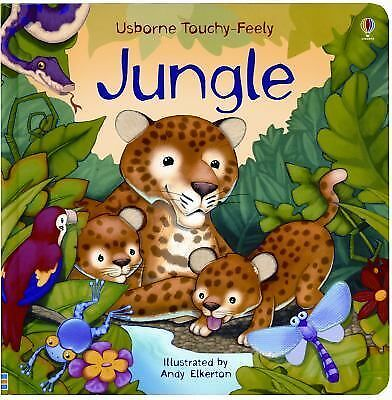 Jungle Touchy-feely Board Book Usborne Touchy-Feely Board Books)