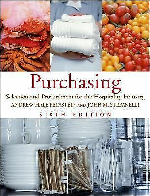 Purchasing: Selection and Procurement for the Hospitality Industry, Stefanelli,