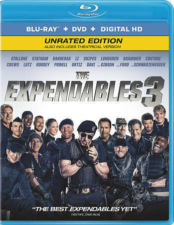 THE EXPENDABLES 3 (Blu-ray/DVD, 2014, 2-Disc Set, Includes Digital Copy) NEW
