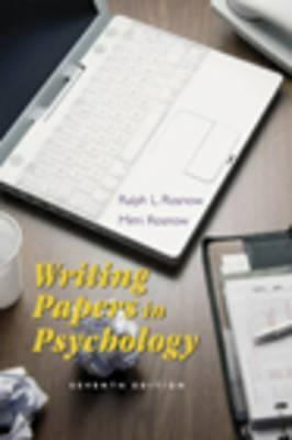 Writing Papers in Psychology: A Student Guide to Research Papers, Essays, Propos