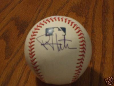 Phil Hughes Autographed OML Baseball-New York Yankees
