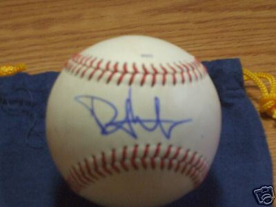 Phil Hughes Autographed Game Used EL Baseball Yankees