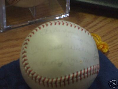 Mickey Mantle Auto'd Joe Cronin AL Baseball RARE