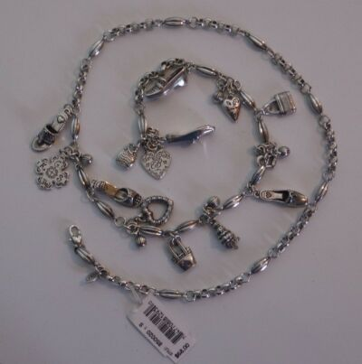 Brighton Charms Silver Plated Chain Belt  Size S   List $68!  NWT B50020