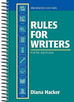 Rules for Writers, 5th Edition - Hacker, Diana - Acceptable Condition