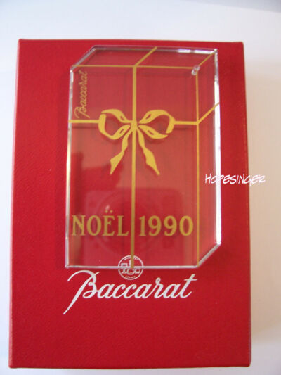 NEW in Box RARE! BACCARAT Crystal  NOEL 1990 Gift ORNAMENT FREE USA SHIPPING
