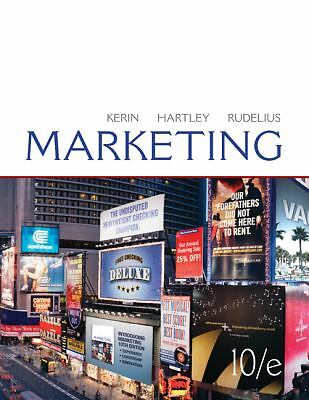Marketing,Kerin Hartley Rudelius,  Acceptable  Book