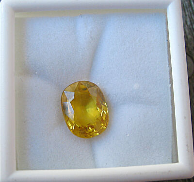 NATURAL UNTREATED OVAL CEYLON YELLOW SAPPHIRE 5.34 CARATS VVS2