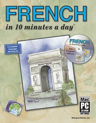 FRENCH in 10 minutes a day with CD-ROM, Kershul, Kristine K., Acceptable Book