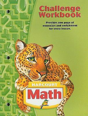 Harcourt Math: Challenge Workbook, Grade 5 (Math 04), , Acceptable Book