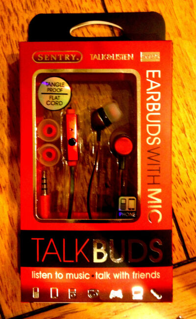 Hot Earbuds by Sentry (Red), Built In Mic, Mobile-MP3-iPod-iPhone-Blackberry