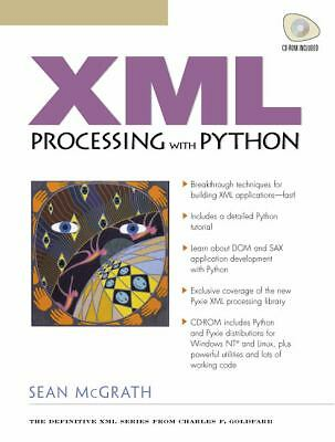 XML Processing with Python (with CD-ROM), McGrath, Sean, Acceptable Book