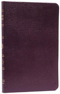 ESV Thinline Bible, Premium Bonded Leather, Burgundy, Red Letter Text by Crossw