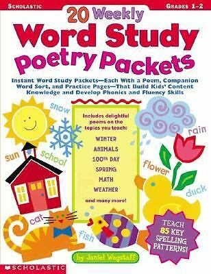 20 Weekly Word Study Poetry Packets by Wagstaff, Janiel