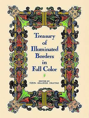 Treasury of Illuminated Borders in Full Color (Dover Pictorial Archive), Grafton