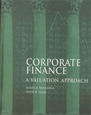 Corporate Finance: A Valuation Approach, Sarig, Oded, Acceptable Book