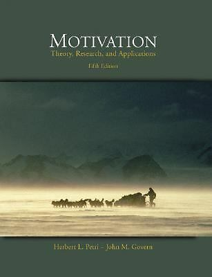 Motivation: Theory, Research, and Applications (with InfoTrac), Govern, John M.,