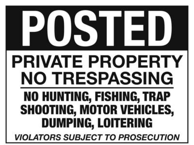 POSTED signs lot of 10