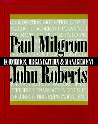 Economics, Organization and Management, Roberts, John, Milgrom, Paul, Acceptable