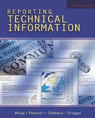 Reporting Technical Information,Dragga, Sam, Tebeaux, Elizabeth, Pearsall, Thoma