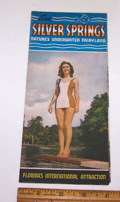 Old SILVER SPRINGS Travel Brochure FLORIDA Underwater Fairyland