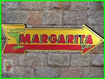 * New MARGARITA BAR Tequila Cocktail Happy Hour Cantina Metal Arrow Bar Sign  HH